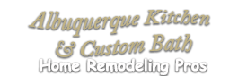 AlbuquerqueKitchenCustomBathHomeRemodelingProslogo1-We do kitchen & bath remodeling, home renovations, custom lighting, custom cabinet installation, cabinet refacing and refinishing, outdoor kitchens, commercial kitchen, countertops, and more